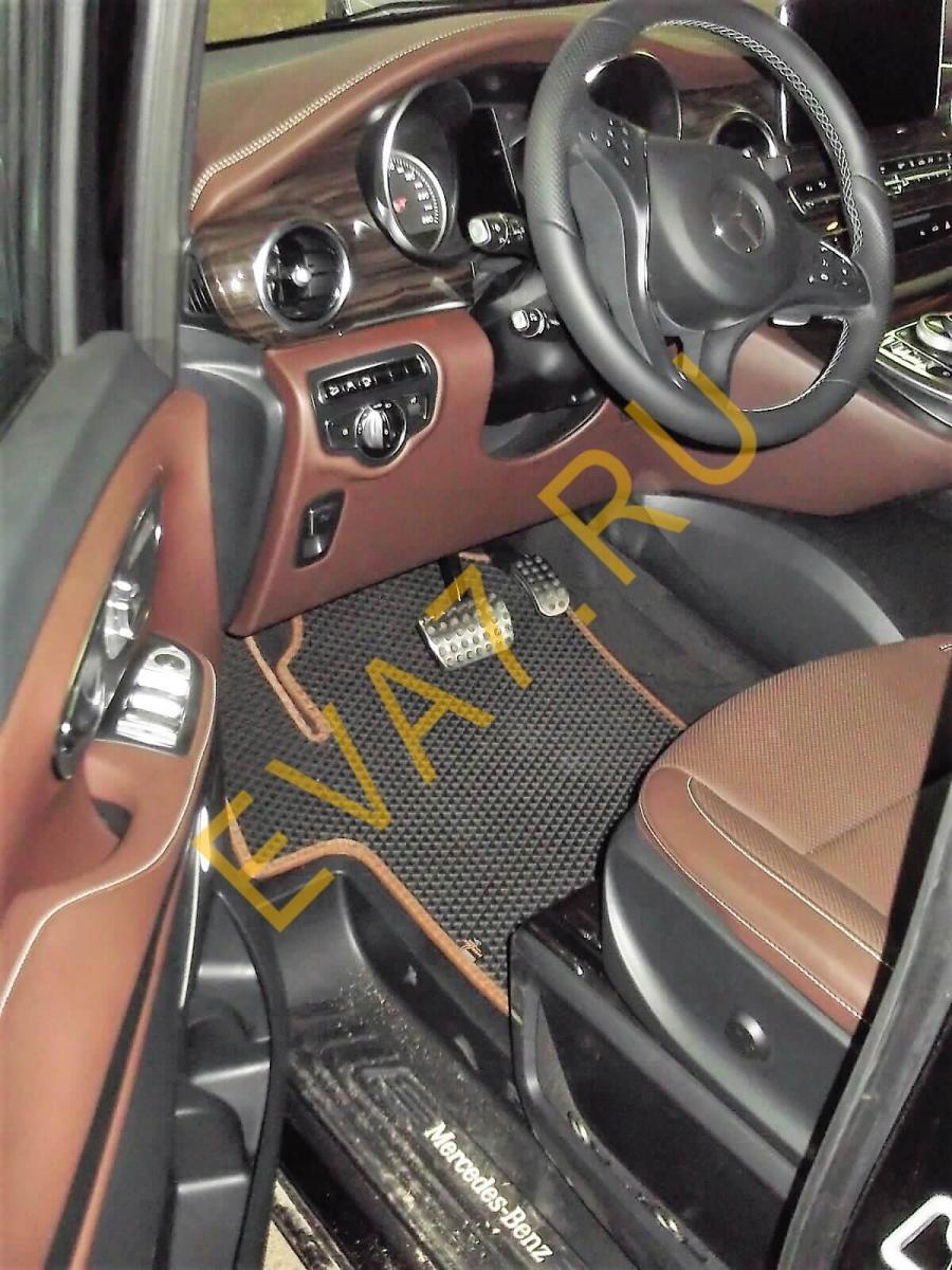 Коврики в салон Mercedes-Benz V-Class V 250 D 4MATIC 7 мест 2016-2021