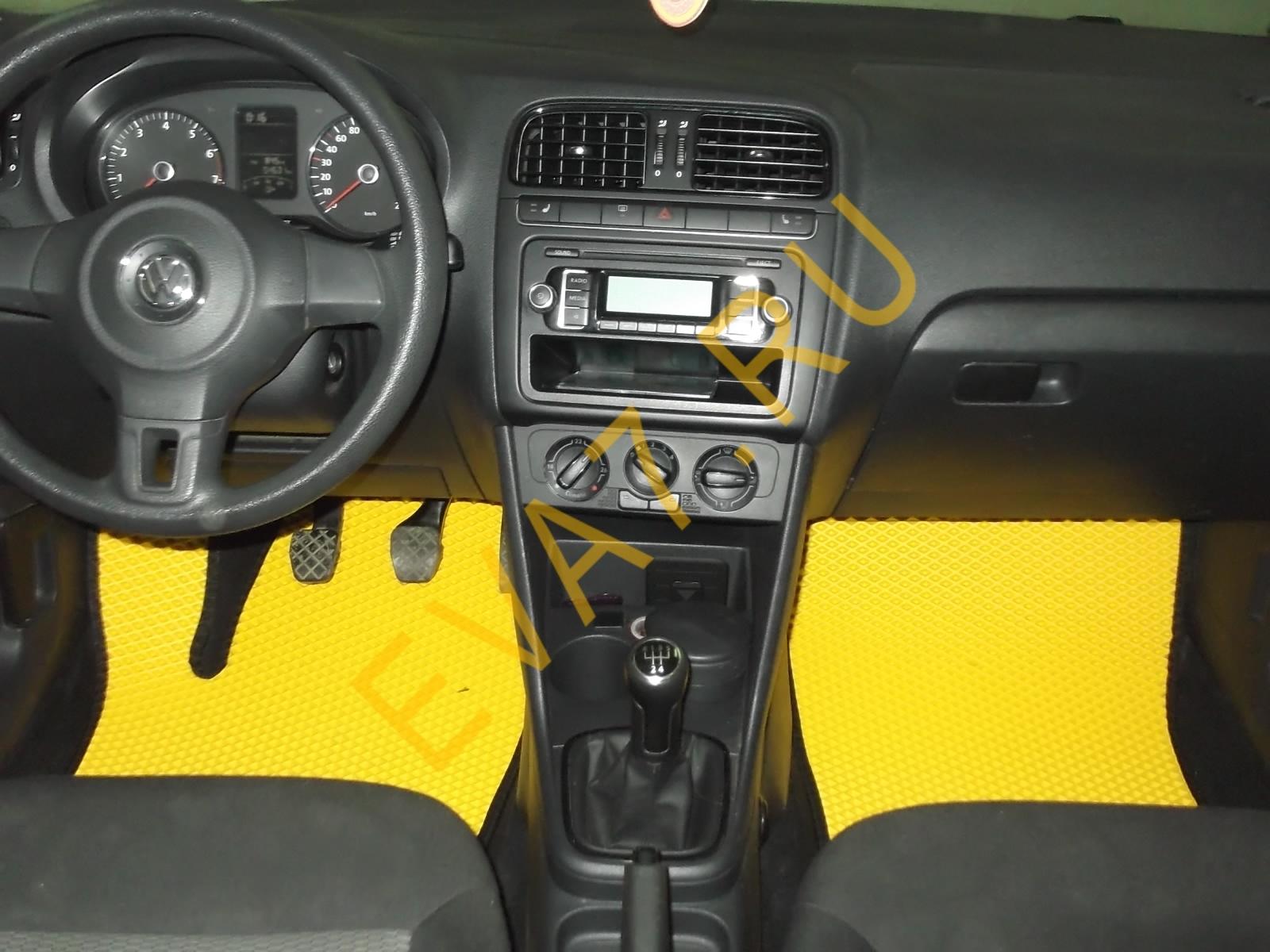 Коврики в салон VolkswagenPolo V (хэтчбек) 2010-2020