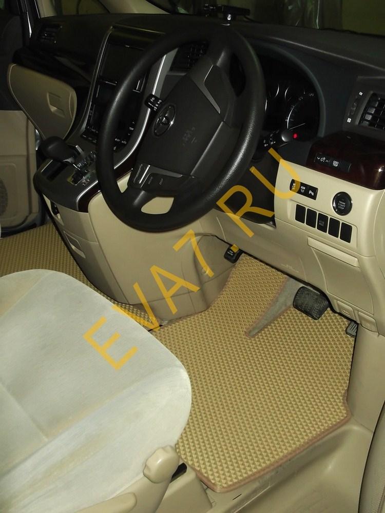 Коврики в салон и багажник Toyota Alphard II правый руль 2008-2011