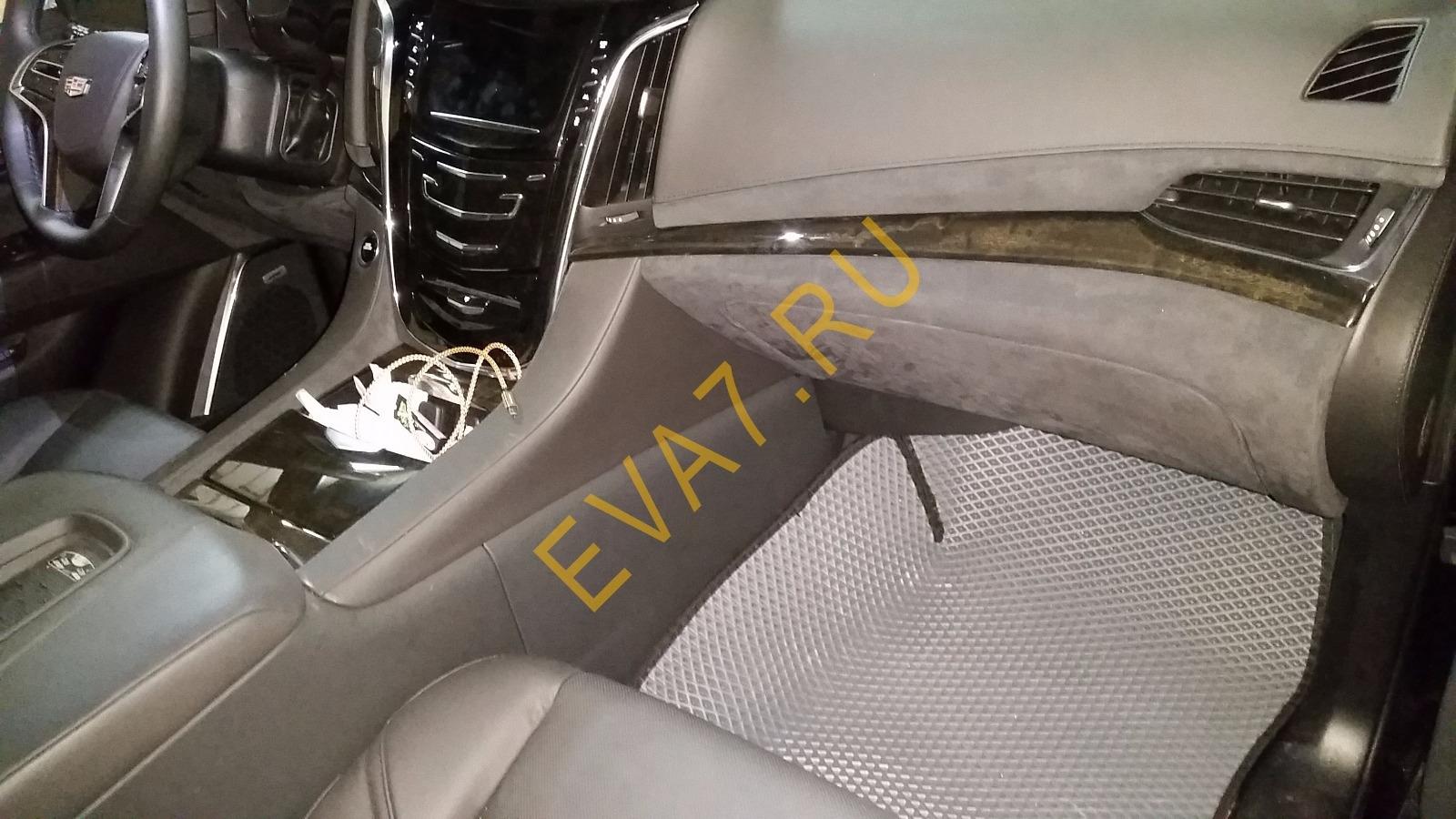 Коврики в салон Cadillac Escalade IV 7 мест 2014-2021 ковры макси 3D
